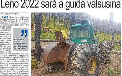 LENO 2022, in partenza la fase 2 del progetto Legno Energia Nord-Ovest