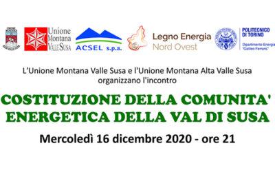 Costituzione della comunità energetica della Val di Susa