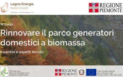 """Documentazione Webinar """"Rinnovare il parco generatori domestici a biomassa"""""""