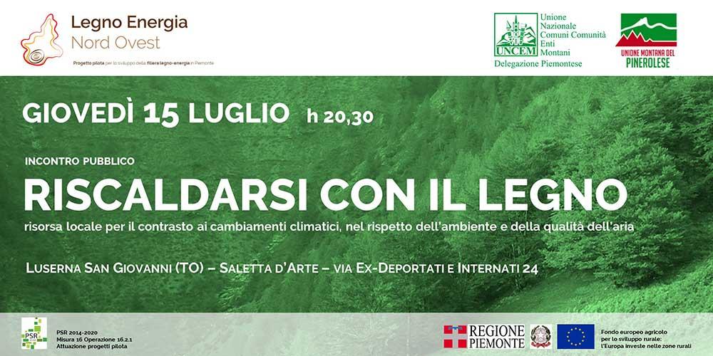 Riscaldarsi con il legno - Incontro a Luserna San Giovanni